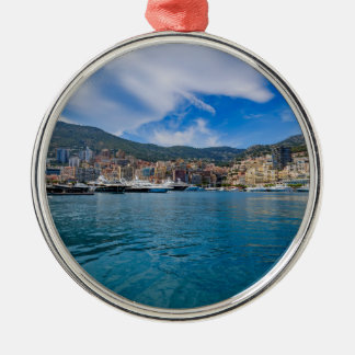 Monaco Skyline Metal Ornament