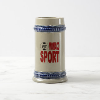 MONACO SPORT CATCHES BEER STEIN