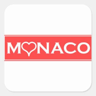 Monaco Square Sticker