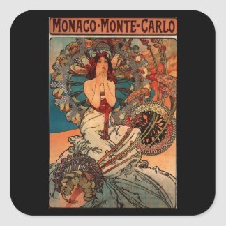Monaco Square Sticker