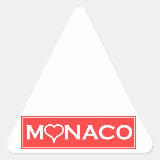Monaco Triangle Sticker