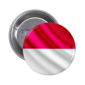 Monaco waving flag pinback button