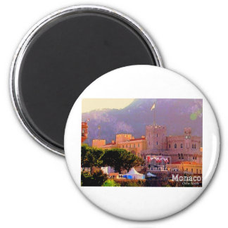 Monaco's Palace 2 Inch Round Magnet