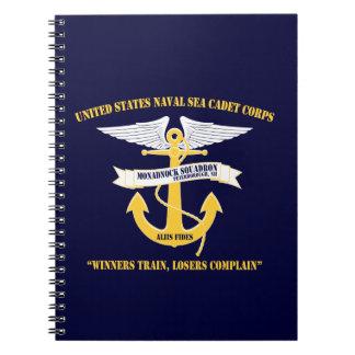 Monadnock Squadron Anchor/Wings Logo Notebook
