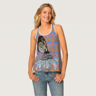 Monarch and Patterns Tank Top