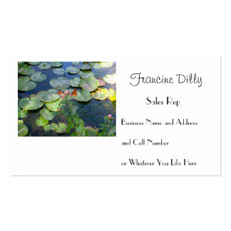 Monarch Butterflies and Lily Pads Business Card