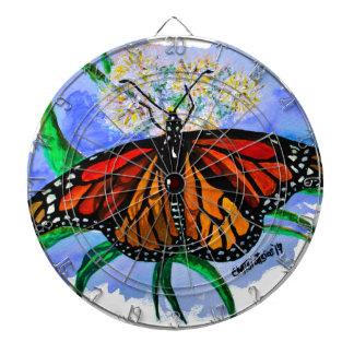 Monarch butterflies dart board
