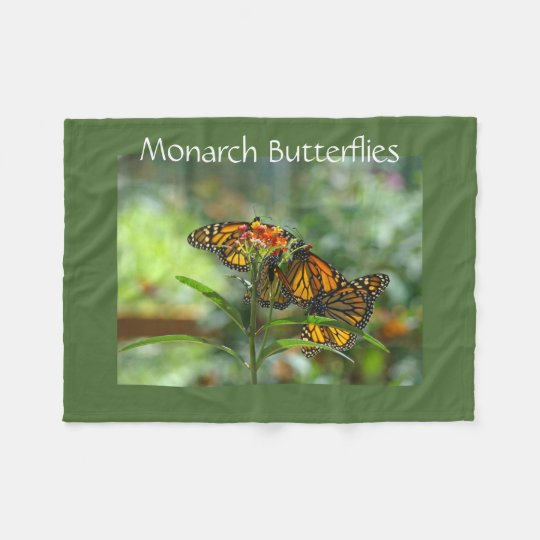 Monarch Butterflies Designer Fleece blankets