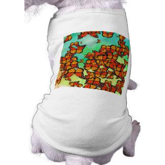 Monarch butterflies doggie shirt