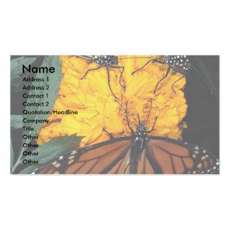 Monarch butterflies feeding business card template