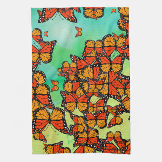 Monarch butterflies hand towels