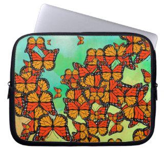 Monarch butterflies laptop computer sleeve