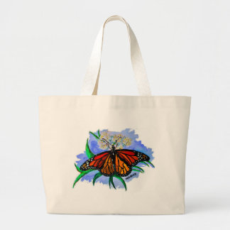 Monarch butterflies large tote bag