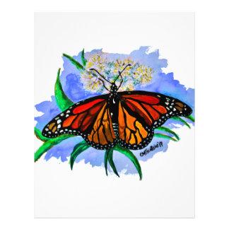 Monarch butterflies letterhead