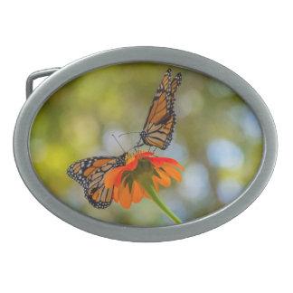 Monarch Butterflies on Wildflowers Belt Buckle