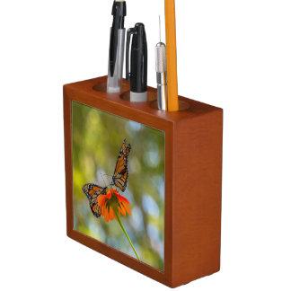 Monarch Butterflies on Wildflowers Desk Organizer