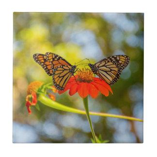 Monarch Butterflies on Wildflowers Tile