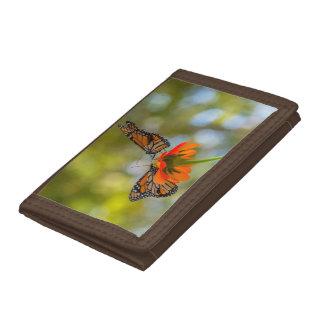 Monarch Butterflies on Wildflowers Tri-fold Wallet