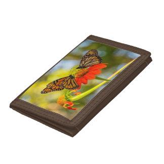 Monarch Butterflies on Wildflowers Trifold Wallets