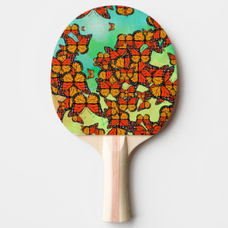 Monarch butterflies Ping-Pong paddle