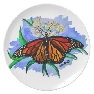 Monarch butterflies plate