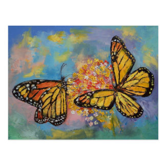 Monarch Butterflies Postcard