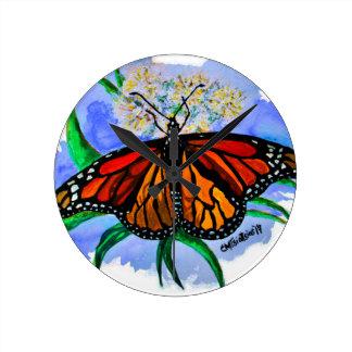 Monarch butterflies round clock