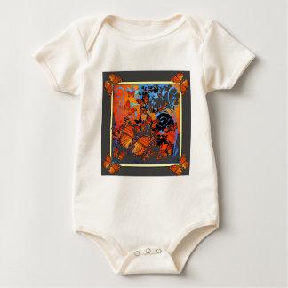 Monarch Butterflies Stormy Weather Art Baby Bodysuit