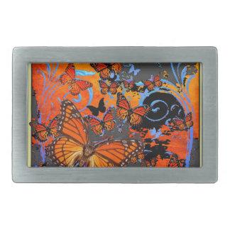 Monarch Butterflies Stormy Weather Art Belt Buckles