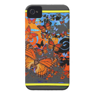 Monarch Butterflies Stormy Weather Art Case-Mate iPhone 4 Cases