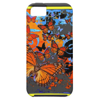 Monarch Butterflies Stormy Weather Art iPhone 5 Cases