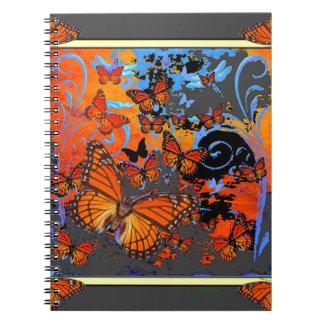 Monarch Butterflies Stormy Weather Art Notebook
