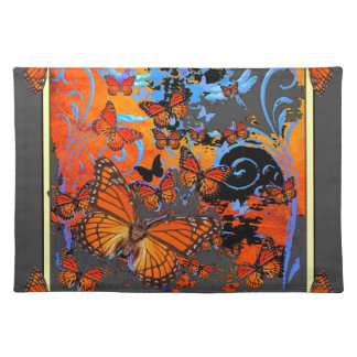 Monarch Butterflies Stormy Weather Art Placemat