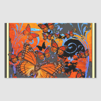Monarch Butterflies Stormy Weather Art Sticker
