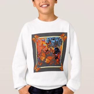 Monarch Butterflies Stormy Weather Art Sweatshirt