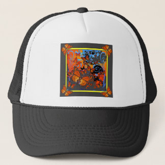 Monarch Butterflies Stormy Weather Art Trucker Hat