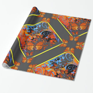 Monarch Butterflies Stormy Weather Art Wrapping Paper