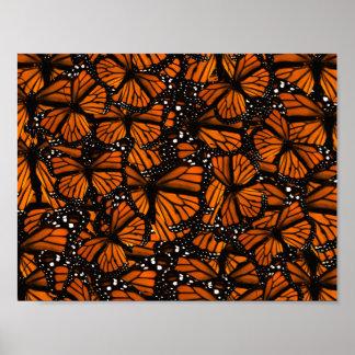 Monarch Butterflies Swarming Print
