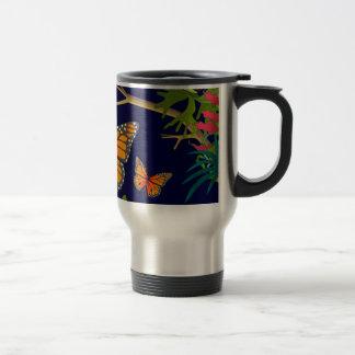 monarch butterflies travel mug