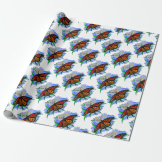 Monarch butterflies wrapping paper