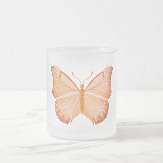 Monarch Butterfly 10 oz Frosted Coffee Tea Mug