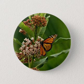 Monarch Butterfly 2 Inch Round Button