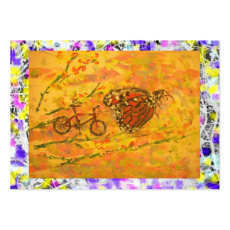 monarch butterfly and bicycle drip large business card
