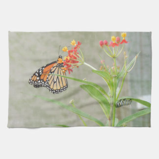 Monarch Butterfly and Caterpillar Kitchen Towel