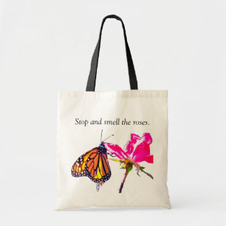 Monarch Butterfly and Rose Tote