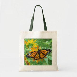 Monarch Butterfly and Sunflowers Tote Bag