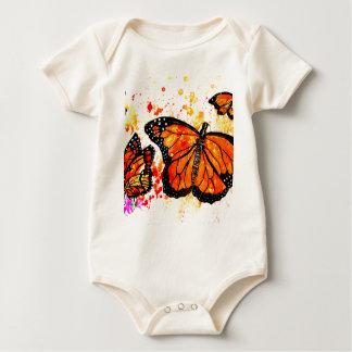 Monarch Butterfly Art02 Baby Bodysuit