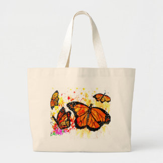 Monarch Butterfly Art02 Large Tote Bag