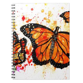 Monarch Butterfly Art02 Spiral Notebooks