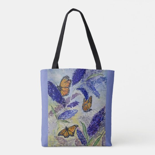 Monarch Butterfly Art All Over Print Tote Bag
